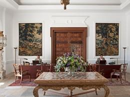 La reception du Finca Cortesin Golf & Spa en Espagne