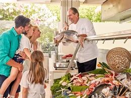 Le restaurant Fishmarket du Forte Village en Sardaigne