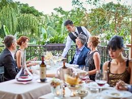 Le restaurant Belvedere du Forte Village Resort