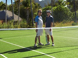 Le court de tennis du Four Seasons Resort Bora Bora