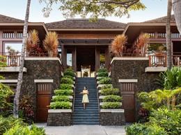 L'entrée du Four Seasons Hualalai situé sur la côte de Kona-Kohala