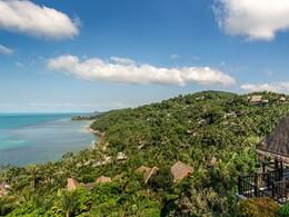 Vue du Four Seasons, l'un des plus beaux hôtels de luxe de Koh Samui