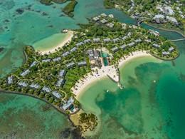 Vue aérienne du Four Seasons Resort Mauritius at Anahita