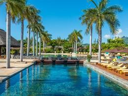 La piscine de l'hôtel Four Seasons à l'Ile Maurice