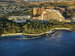 Vue aérienne du Four Seasons Oahu situé sur l'île la plus dynamique d'Hawaii