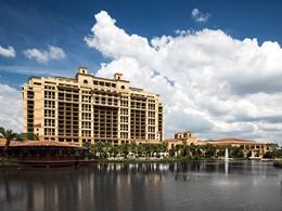Vue de l'hôtel de luxe Four Seasons Orlando en Floride
