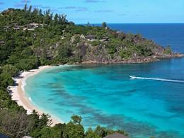 Vue de l'hôtel Four Seasons Resort Seychelles