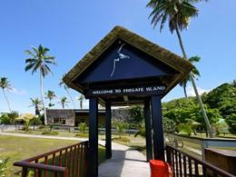 L'entrée du Fregate Island situé aux Seychelles
