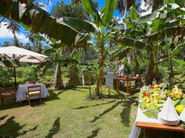 Déjeunez dans la plantation du Fregate Island