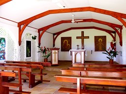 La chapelle de l'hôtel Fregate Island aux Seychelles