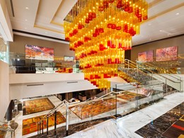 Le lobby du Golden Nugget Hotel à Las Vegas