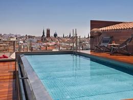 La piscine du Gran Meliá, situé dans le Madrid des Habsbourg