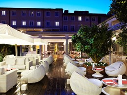 Le restaurant Liquid Garden du Gran Melia Villa Agrippina