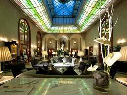 Le lobby du Grand Hotel de la Minerve