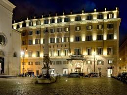Vue du Grand Hotel de la Minerve, au cœur de Rome