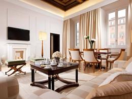 Le salon de la Suite Sand du Grand Hotel de la Minerve