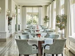 Le cadre élégant du restaurant La Veranda