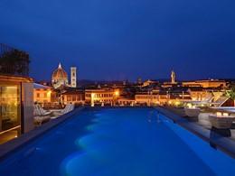 La piscine du Grand Hotel Minerva à Florence