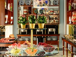 Le buffet de petit dejeuner du Grand Hotel Minerva