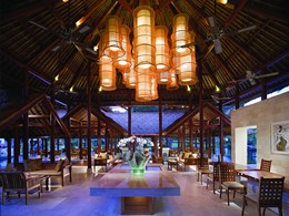 Le lounge de la réception du Grand Hyatt Bali
