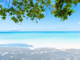 La plage de l'hôtel H Resort aux Seychelles