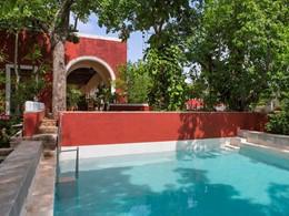 La piscine de la suite Casa del Patron de l'Hacienda Temozon