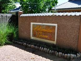 L'entrée de l'Heliconia Grove, situé aux Seychelles