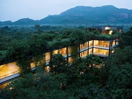 Vue de l'hôtel Heritance Kandalama à Sigiriya