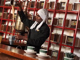 Bar à thé de l'Heritance Tea Factory au Sri Lanka