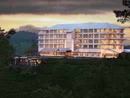 Vue de l'hôtel Heritance Tea Factory au Sri Lanka
