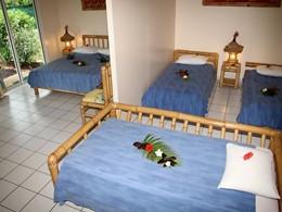 Chambre Famille de l'hôtel Hibiscus à Moorea