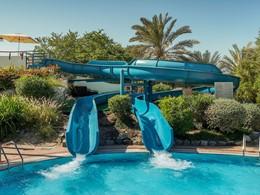 Toboggan de la piscine de l'Hilton Abu Dhabi