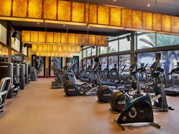 La gym de l'hôtel 4 étoiles Hilton Abu Dhabi