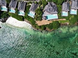 Vue aérienne des superbes villas