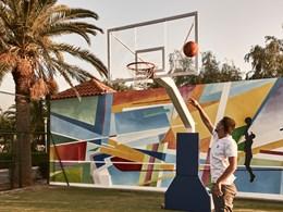 Le terrain de Basketball