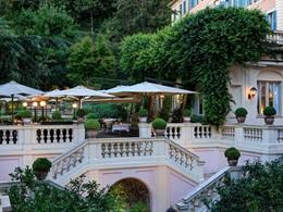 Vue extérieure du restaurant Le Jardin de Russie de l'Hôtel de Russie