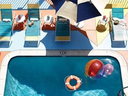 La superbe piscine de l'hôtel Del Sol à San Francisco