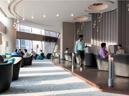Le lobby de l'hôtel Jen Orchardgateway à Singapour