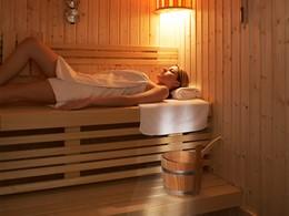 Le sauna de l'hôtel