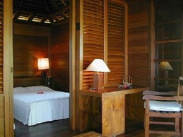 La chambre d'un bungalow