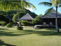 Vue des bungalows de l'hôtel