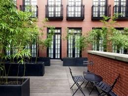 La terrasse de l'hôtel