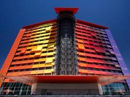 Vue de l'hôtel Silken Puerta de América situé en Espagne