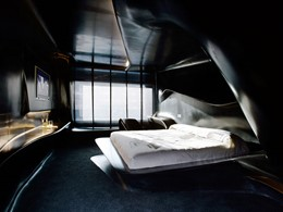 Chambre Space Club by Zaha Hadid de l'hôtel Silken Puerta de América à Madrid