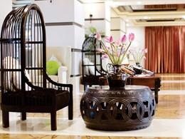 Le lobby de l'Hotel Royal Hoi An situé au Vietnam