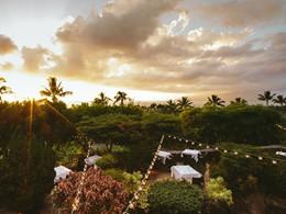 Le restaurant de l'hôtel Wailea situé à Hawaii
