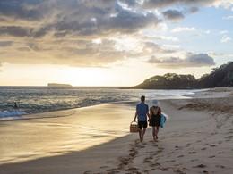 Balade en amoureux sur la plage de l'hôtel Wailea