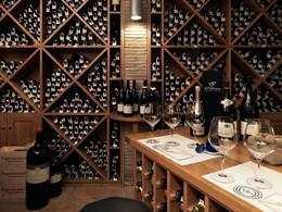 La cave à vin de l'Il Pelicano situé à Porto Ercole