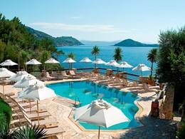 La piscine de l'hôtel Il Pelicano à Porto Ercole