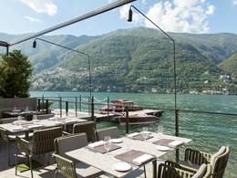 Somptueux repas face au lac de Côme au restaurant